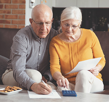 Senior couple planning their joint retirement funds